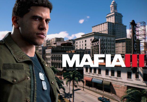 Le logo du jeu mafia 3 et de son personnage principal